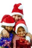 Kinder und Geschenke Lizenzfreie Stockfotografie