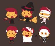 Kinder und Halloween Lizenzfreies Stockfoto