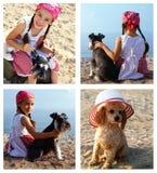 Kinder und Hunde Lizenzfreies Stockfoto