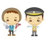 Kinder und Jobs Lizenzfreies Stockfoto