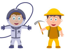 Kinder und Jobs - Entdeckung Stockfotos