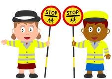Kinder und Jobs - Lutscher Lizenzfreies Stockfoto