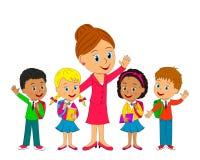 Kinder und Lehrer Lizenzfreies Stockbild