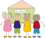 Kinder und Schule Lizenzfreie Stockfotografie