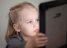 Kinder und Technologie Stockfoto