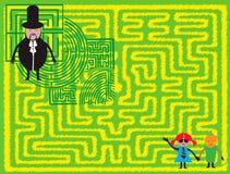 Kinder verloren im Labyrinth Stockbilder
