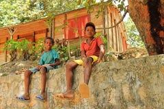 Kinder von Afrika, Madagaskar Lizenzfreie Stockfotos