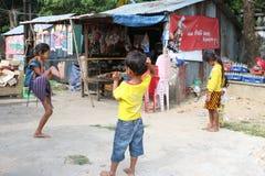 Kinder von Campodia Lizenzfreies Stockfoto