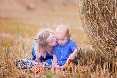 Kinder während Oktoberfest Stockfoto