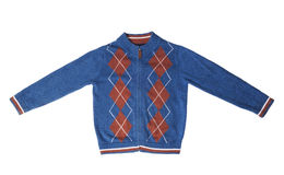 Kinder wärmen Strickjacke Stockbild