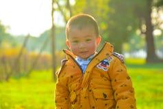 Kinder wachsen glücklich in der Sonne heran stockfotografie