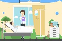 Kinder weisen im Krankenhaus ein lizenzfreie abbildung