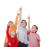 Kinder zeigen sich Stockbilder