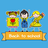 Kinder zurück zu Schule Lizenzfreie Stockfotos
