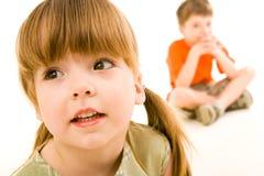Kinderachtig kijk Stock Foto