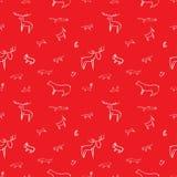 Kinderachtig patroon van wilde dieren Royalty-vrije Stock Afbeelding