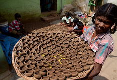 Kinderarbeit in Indien Stockbilder