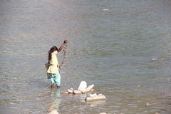 Kinderarbeit in Indien Stockbild
