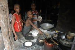 Kinderarbeit in Indien. Lizenzfreies Stockbild