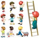 Kinderarbeiten Stockbild