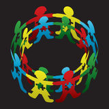Kinderautismus-Kreis der Hoffnung Stockfotos