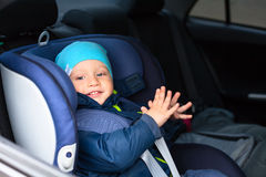 Kinderauto-Schutzsitz lizenzfreie stockfotografie