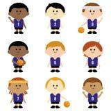 Kinderbasketball-team Stockbild