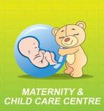 Kinderbetreuungzeichen stock abbildung