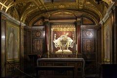 Kinderdagverblijf Christus in kerk Santa Maria maggiore Stock Afbeelding
