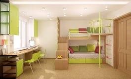 Kinderdagverblijf in groene schaduwen Royalty-vrije Stock Foto's