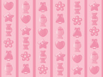 Kinderdagverblijf -kinderdagverblijf-wallpapter, achtergrond stock illustratie