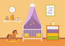 Kinderdagverblijf vectorbinnenland Stock Afbeeldingen