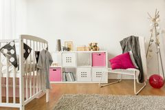 Kinderdagverblijf voor babymeisje Royalty-vrije Stock Foto