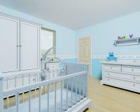 Kinderdagverblijf voor een babyjongen Stock Afbeelding