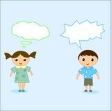 Kinderdenken vektor abbildung