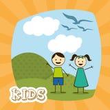Kinderdesign Stockfoto