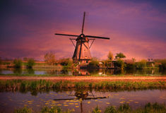 Kinderdijk windmill Royalty Free Stock Photography