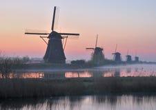 Kinderdijk, Κάτω Χώρες, Μπενελούξ Στοκ εικόνες με δικαίωμα ελεύθερης χρήσης