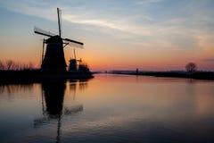 Kinderdijk στην Ολλανδία Στοκ Εικόνες