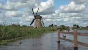 Kinderdijk в Голландии сток-видео