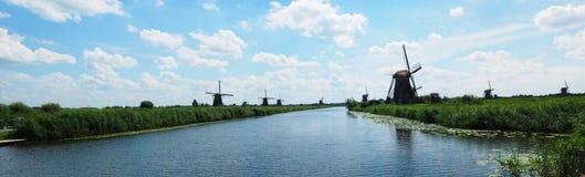 Kinderdijk, Нидерланды 2015 Ветрянки Kinderdijk стоковые фото