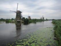 Kinderdijk, южная Голландия, Нидерланды Стоковое Фото