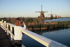 Kinderdijk Royalty Free Stock Photo