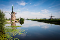 Kinderdijk Imagen de archivo libre de regalías