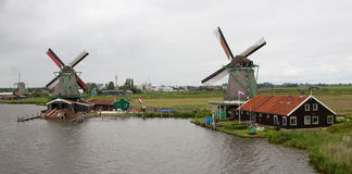 Kinderdijk Dutch Windmill Countryside Stock Image