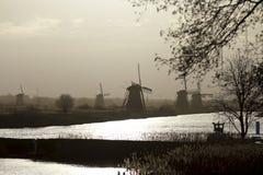 Kinderdijk early morning Stock Photo