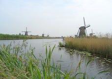 Kinderdijk Historic Dutch Windmill Complex in Molenwaard Stock Images