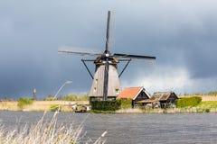 Kinderdijk, Holandia Obrazy Stock