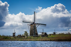 Kinderdijk, Holandia Fotografia Royalty Free