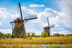 Kinderdijk, Holandia Obrazy Royalty Free